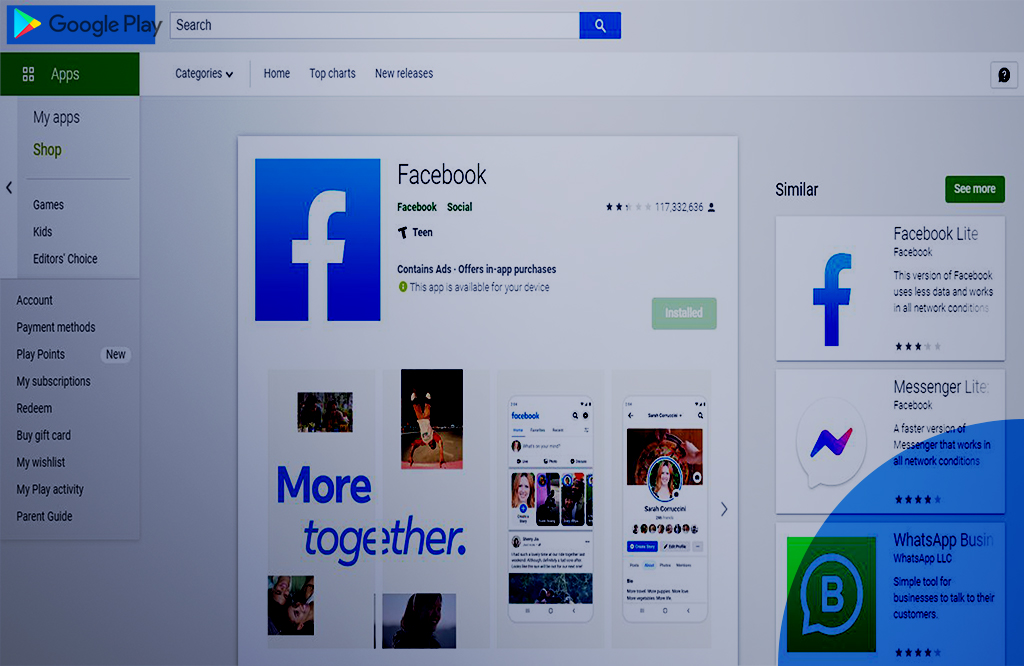 Facebook Rating(2.1)Dropped on the Google Play Store